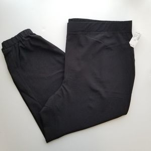 Dressbarn Black Jogger PL 3X Pants pull on Elastic